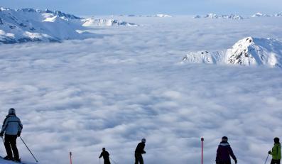Morze mgły, Arosa w Szwajcarii