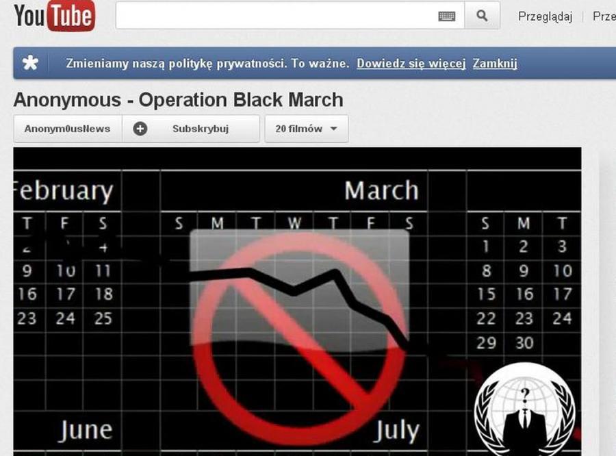 Grupa Anonymous organizuje \
