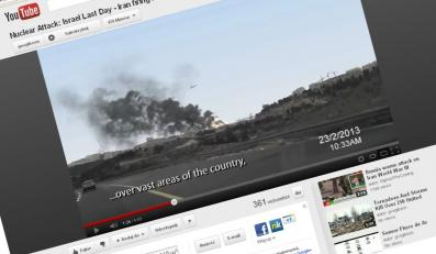 """""""Ostatni dzień"""". Atak atomowy na Izrael. Reżyserem tego filmiku jest Ronen Barany"""