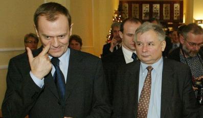 Donald Tusk i Jarosław Kaczyński