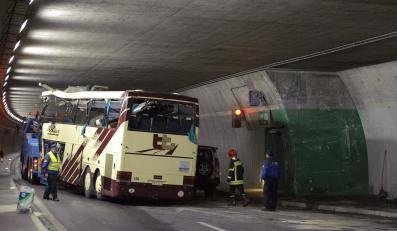 Wrak belgijskiego autokaru