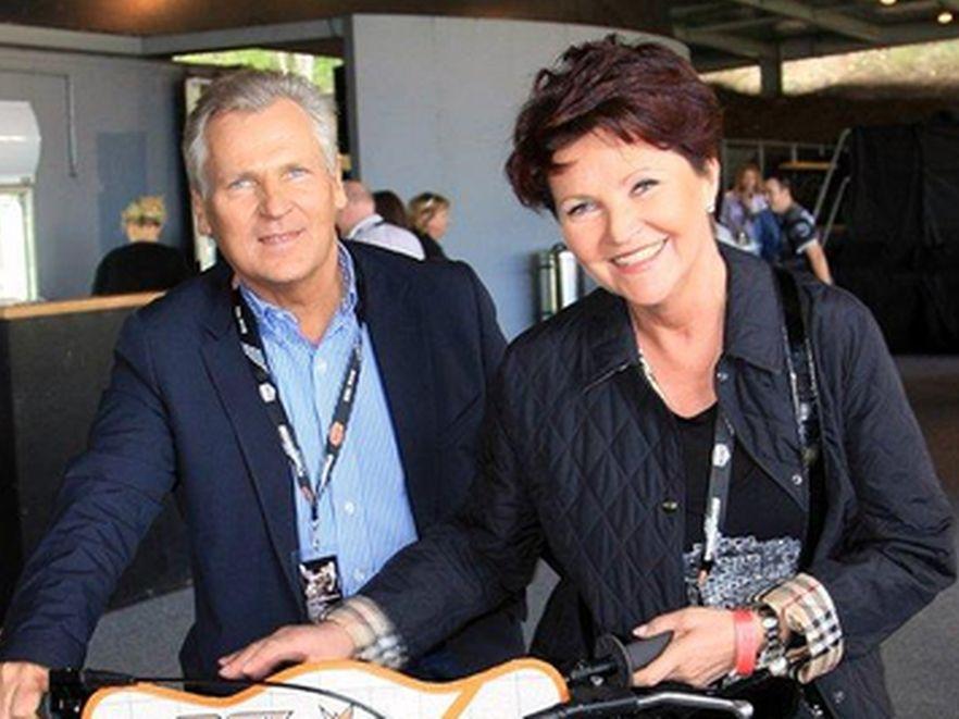 Jolanta Kwaśniewska i Aleksander Kwaśniewski w Nowej Zelandii