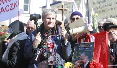 Demonstracja smoleńska w rocznicę katastrofy w Warszawie