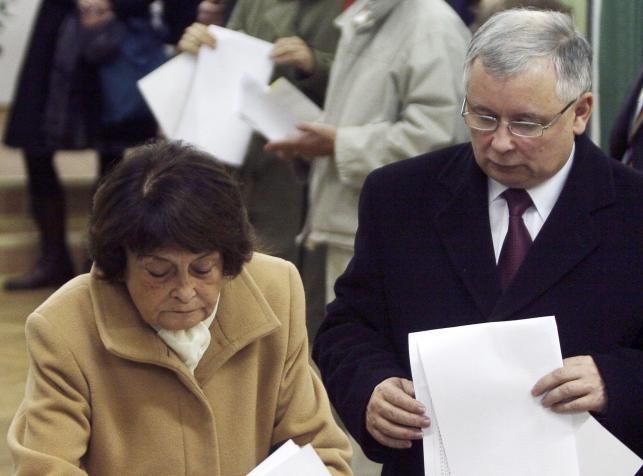 Jadwiga Kaczyńska i Jarosław Kaczyński