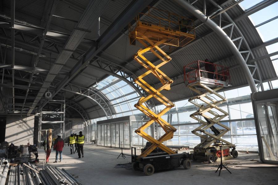 Budowa terminalu na lotnisku w Modlinie