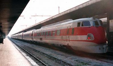 Pendolino na stacji w Rzymie