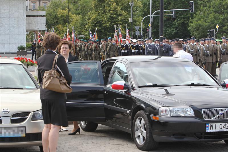 Hanna Gronkiewicz-Waltz i limuzyna