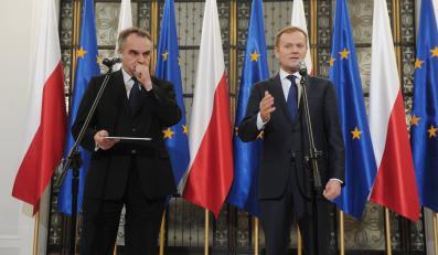 Premier Donald Tusk i wicepremier Waldemar Pawlak