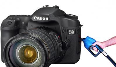 Paliwo zamiast baterii w nowych lustrzankach Canona