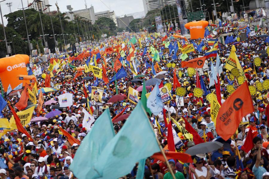 Wiec opozycji w Wenezueli