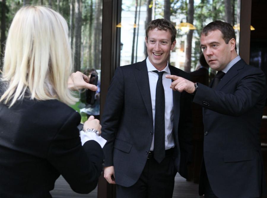 Mark Zuckerberg i Dmitrij Miedwiediew