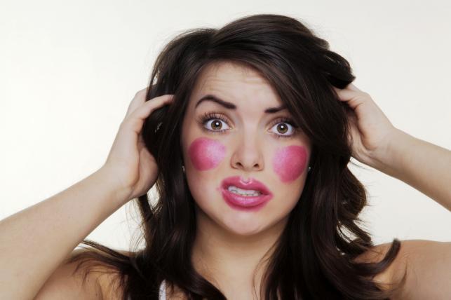 Nieudany makijaż