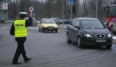 Policjant w pracy