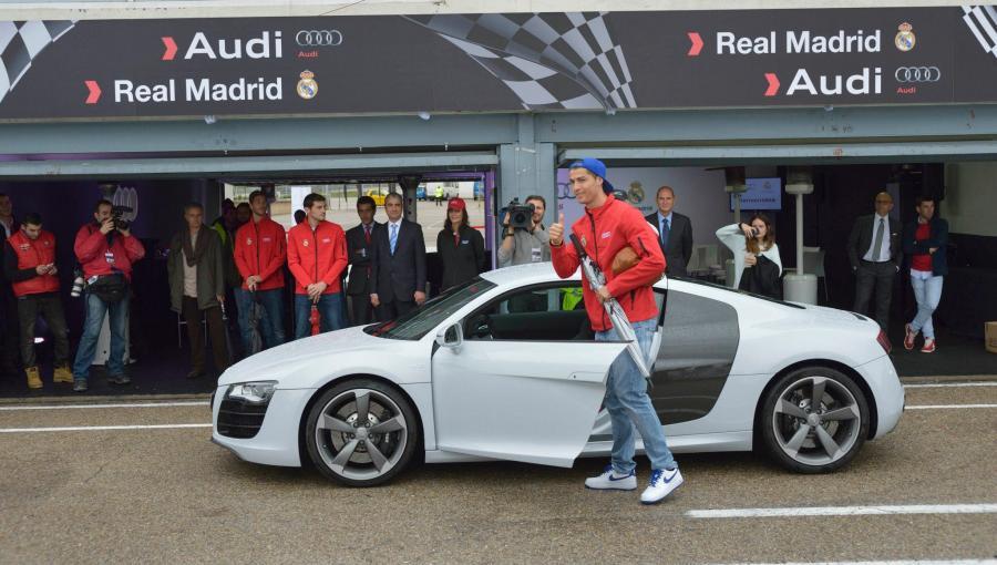 Ronaldo i jego nowe Audi R8