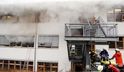 Pożar w niemieckim ośrodku