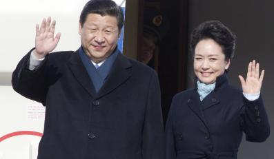 Prezydent Chin z małżonką