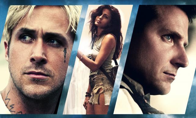 """Ryan Gosling, Eva Mendes i Bradley Cooper na plakacie filmu """"Drugie oblicze"""""""