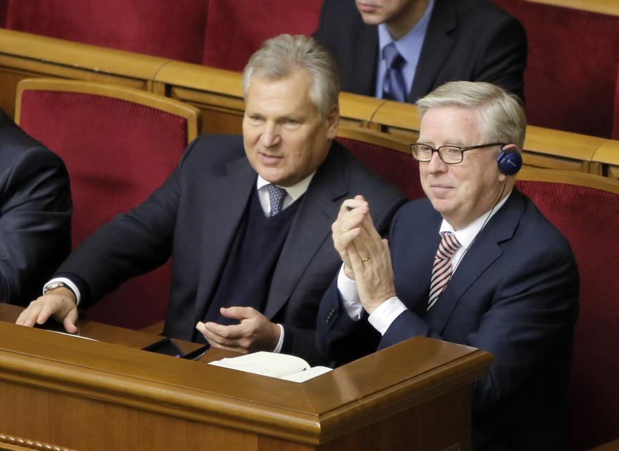 Aleksander Kwaśniewski i Pat Cox