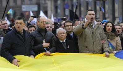 Jarosław Kaczyński wśród polityków opozycji w Kijowie