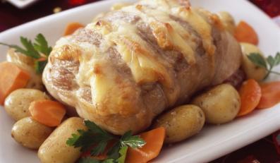 Pieczona cielęcina z serem
