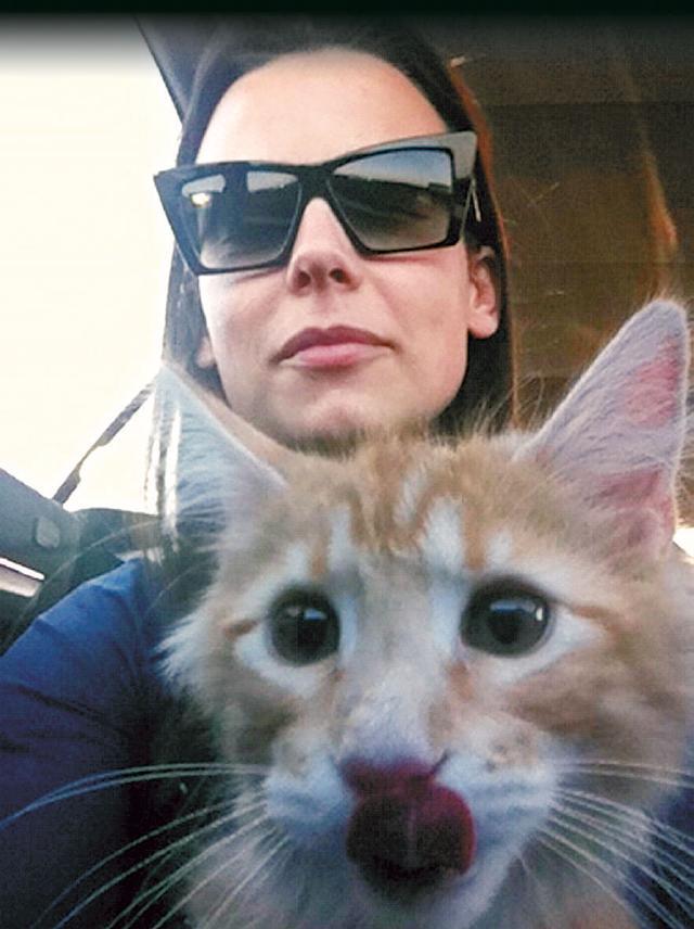 Anna Mucha z kotem / zdjęcie z oficjalnego bloga aktorki