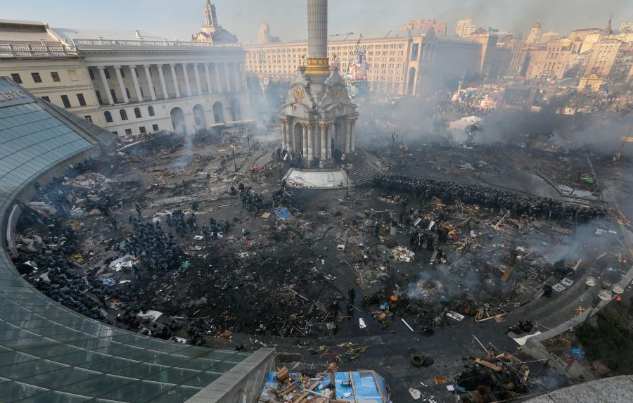 Krajobraz po walkach w Kijowie