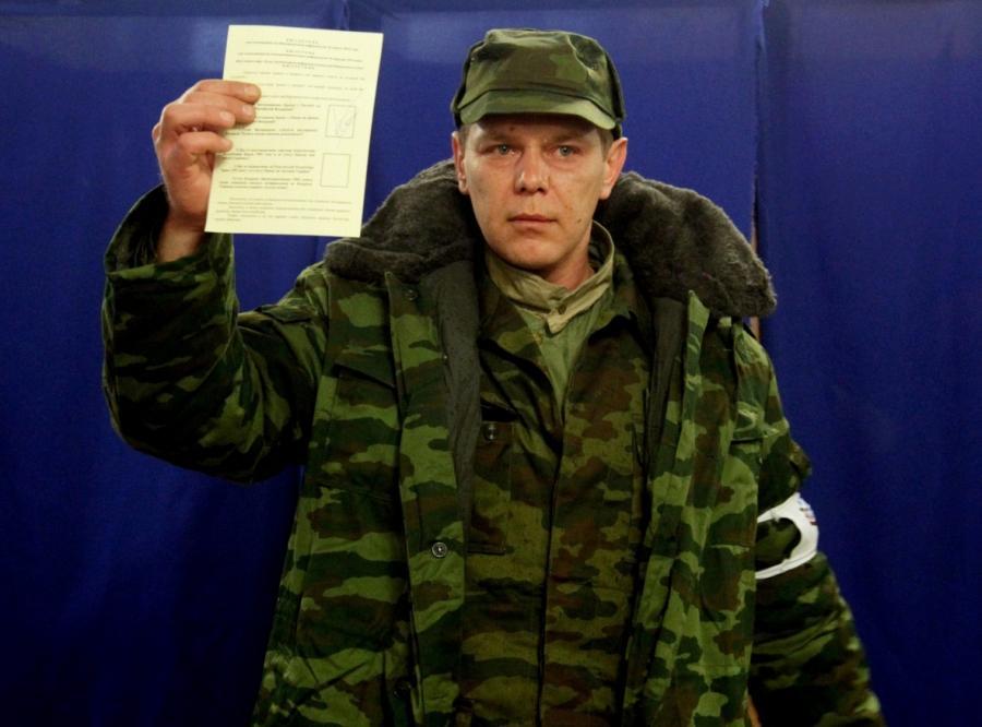 Zwolennik przyłączenia Krymu do Rosji