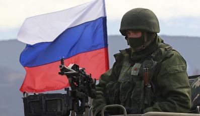 Rosyjski żołnierz na Krymie