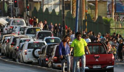 Ewakuacja mieszkańców w Chile