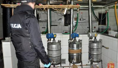 Policja rozbiła fabrykę amfetaminy