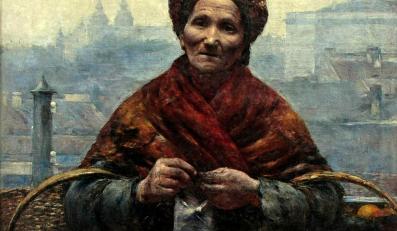 """Aleksander Gierymski, """"Żydówka z pomarańczami"""", obraz odzyskany w grudniu 2012 roku"""
