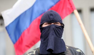Członek prorosyjskich bojówek