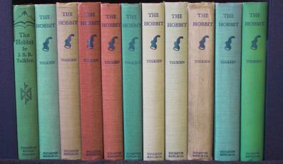 Jedne z pierwszych amerykańskich wydań Hobbita