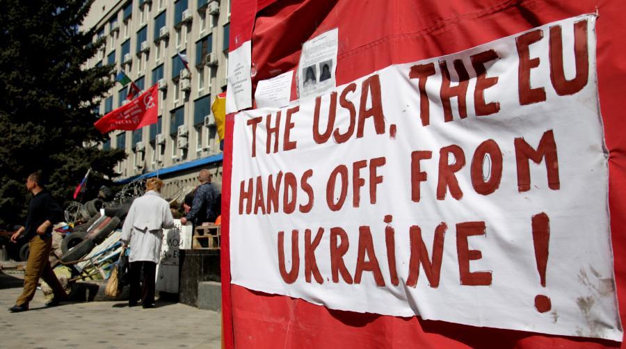Prorosyjska manifestacja na Ukrainie