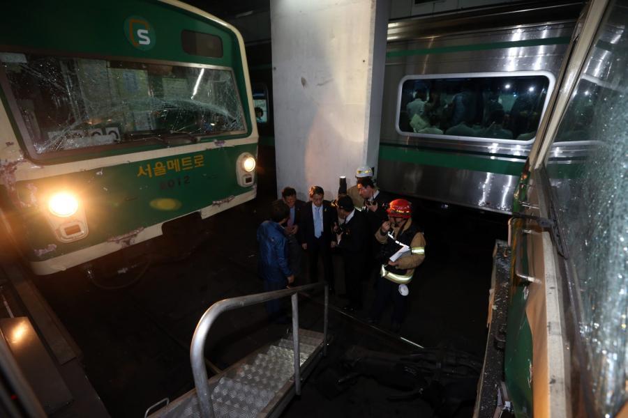 Zderzenie wagonów metra