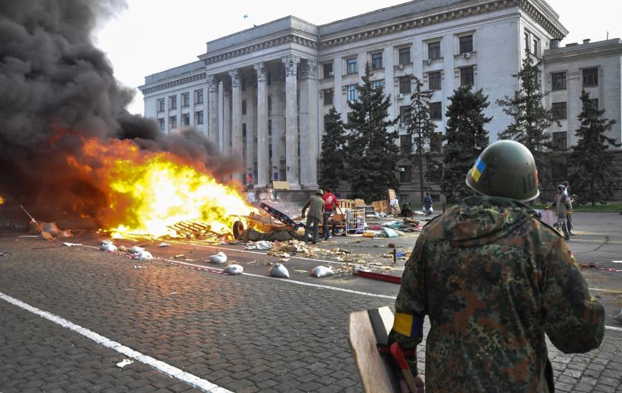 Ogień na Kulikowym Polu w Odessie