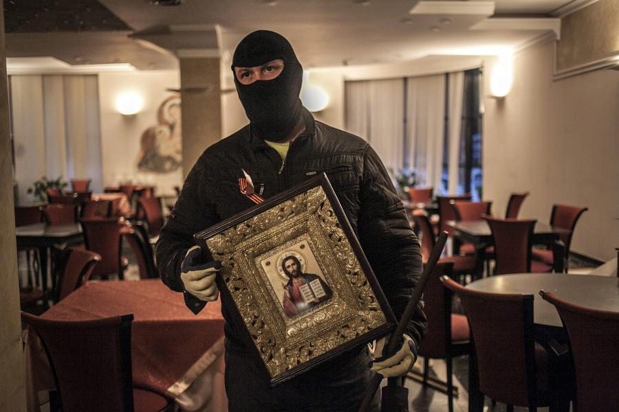 Ukraina: prorosyjski separatysta w Doniecku