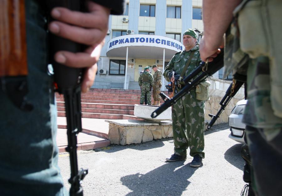 Ukraina. Prorosyjscy separatyści w Ługańsku