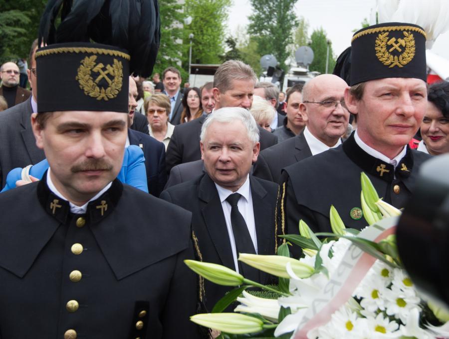 Prezes PiS Jarosław Kaczyński w Katowicach
