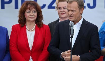 Donald Tusk i Barbara Kudrycka