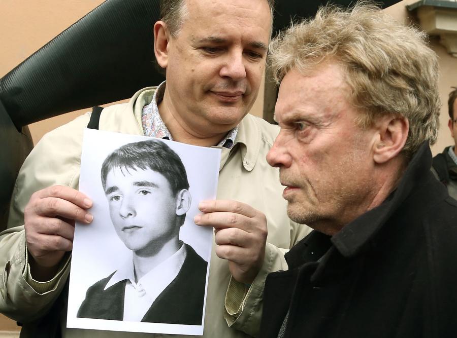 Daniel Olbrychski na pogrzebie gen. Jaruzelskiego