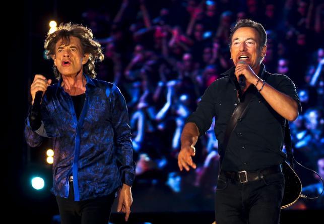 Mick Jagger i Bruce Springsteen na festiwalu Rock in Rio w Lizbonie
