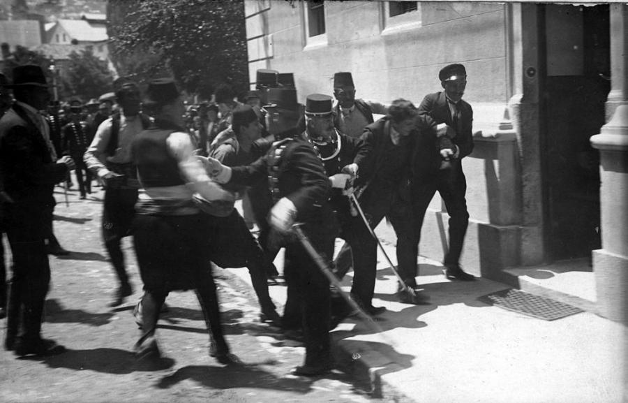 Gavrilo Princip zatrzymany tuż po zamachu