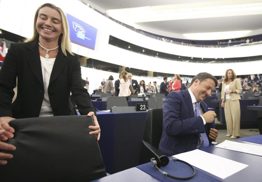 Federica Mogherini i Matteo Renzi