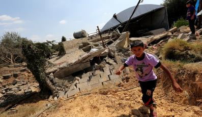 Izraelskie śmigłowce ostrzelały palestyńskie domy