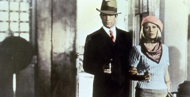 "Faye Dunaway i Warren Beatty w filmie ""Bonnie i Clyde"""
