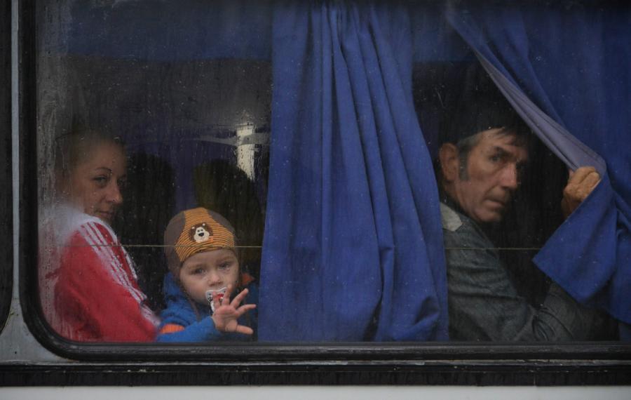 Rodziny separatystów uciekają do Rosji