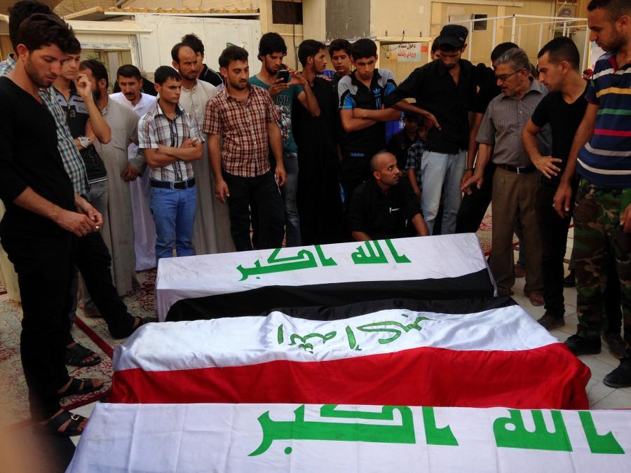 Ofiary zamachu w Iraku