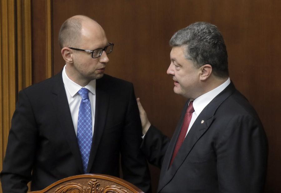 Arsenij Jaceniuk i Petro Poroszenko