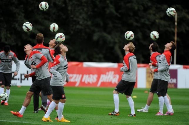 Polscy piłkarze szykują się do meczu z Gibraltarem